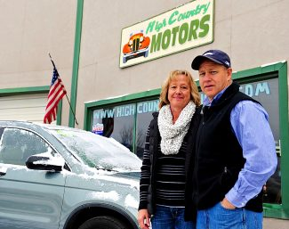 Kim and Mike Garrett,  owners of High Country Motors in Granby.