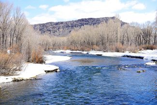 The Colorado River flows through Hot Sulphur Springs as seen last winter.  West Slope water interests are concerned about the ongoing drought in California and the effect it could have on water use  in the Upper Basin states.