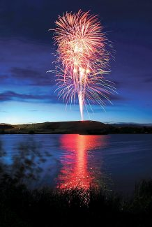 The Granby fireworks display is reflected in the SilverCreek pond during a Fourth of July display in 2011.  Byron Hetzler/Sky-Hi News file photo