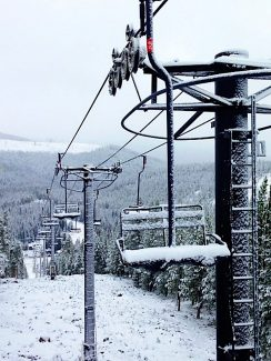 The first full day of the fall season brought snow to Winter Park Resort with 2 inches measured around the base area and at least  6 inches falling on the higher peaks, according to WInter Park Resort spokesperson Steve Hurlbert. The snowfall created the first dusting for the skiing season, which at Winter Park Resort is set to start on Nov. 13.