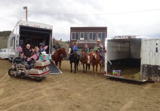 "The Flying Heels Arena in Granby hosts its first rodeo of the season this Saturday, June 15, with the junior rodeo starting at 11 a.m., slack at 3 p.m. and the open rodeo at 7. Diapers will be collected for the Pregnancy Resource Center during the performance through a ""Diaper Derby"" contest between cowboys and motorcyclists to see who can collect the most diapers in their respective trailers. A flag ceremony will also be conducted on Saturday. Additional rodeos will be held on July 4 and July 6. The equestrian group the Westernaires will perform during each of the rodeos July 4-6. Courtesy photo"