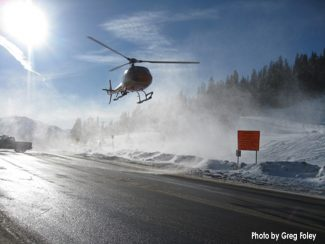 Greg FoleySearch and rescue responds to avalanche on Berthoud Pass Saturday.