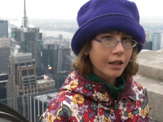 Sammi Mays, in 2009 during a family trip to New York City. On family trips, said Sammi's mom Erica Mays, Erica's brother Jeffery comes along to help with Sammi.