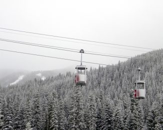 Courtesy of Winter Park ResortThe Cabriolet at Winter Park Resort featured a fresh dusting of snow on Monday. Some forecasters says a snowy October could be the precursor to a heavy snow year.