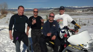 Team 50 from Grand Lake for Iron Dog Race 2012 includes (from left) Chris Tarr, Bruce Knight, Cory Ziegler and Kevin Cox. Photo by Cathern Campbell