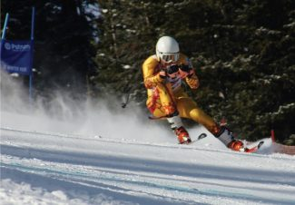 Nick Stenicka racing at Winter Park in January Photo by John Stenicka