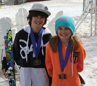Two Winter Park athletes Birk Irving, 12, won the National Halfpipe for the 3rd year in a row, and his sister, Svea Irving, won the Slopestyle for the 2nd year in a row.