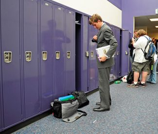 Middle Park senior Marshall Simone packs up at the end of the school day.   Byron Hetzler/Sky-Hi News