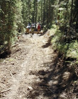 Courtesy of US Forest ServiceWork on the Elk Creek Loop is nearly complete.