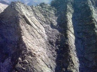 This photo, provided by the Pitkin County Sheriff's Office, shows the rock slide on Hagerman Peak outside of Aspen, where the body of Rob Jansen of Connecticut was recovered Monday morning. Hansen died in the slide on Saturday.