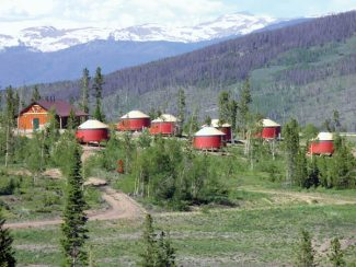 Courtesy PhotoThe yurt village at YMCA of the Rockies' Snow Mountain Ranch in Grand County