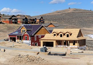 Homes under construction in Granby Ranch on Tuesday morning.   Byron Hetzler/Sky-Hi News