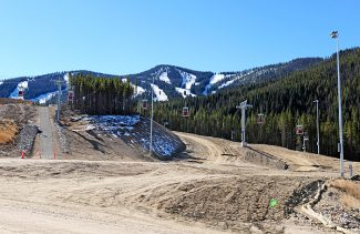 The new tubing hill at Winter Park Resort takes shape on Wednesday.  The new attraction is located near The Vintage hotel and the old D parking lot.   Byron Hetzler/Sky-Hi News