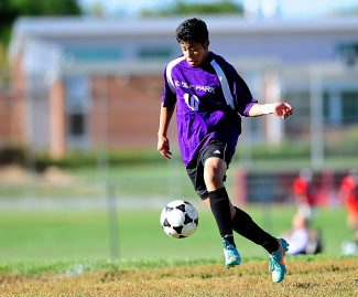 Middle Park's Benny Perez looks to control the ball during Tuesday's game, Oct. 1, against Jefferson in Edgewater.  The Panthers ended up on the wrong end of a 9-2 score.