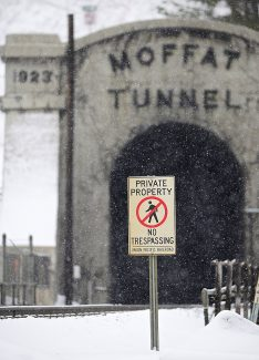 A trespasser in the Moffat Tunnel on Friday, April 25, forced the tunnel's closure for more than three hours and delayed four freight trains and an Amtrak.