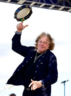 Eddie Money spins a tambourine during his performance at the Winter Park Music Festival last year. This year's blasts from the past at the festival include headliner 38 Special and English rock band Foghat.