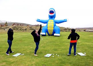 """East Grand Middle School seventh graders participate in a series of skill stations at Grand Elk Golf Club on Thursday, May 8, in Granby.  The program was funded through a grant from the Colorado Professional Golfers Association and its """"Growth of the Game"""" program."""