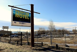 The Frontier Motel in Granby is reduced to a pile of rubble following demolition work