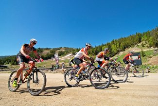 Riders head out at the start of the Epic Singletrack Hill Climb on Saturday, June 14, at Winter Park Resort.