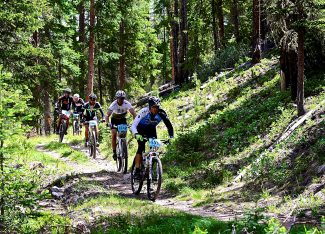 Riders make their way down Ice Hill during the Epic Singletrack Series Super Loop on Saturday, June 28, in Winter Park. More than 340 riders took part in Saturday's race.