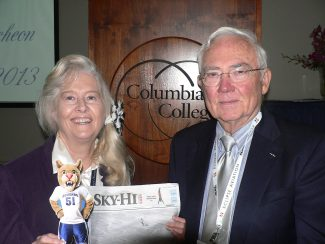 Penny Hamilton, left, pictured with her husband, Bill, recently received the 2013 Distinguished Alumni Award from Columbia College in Columbia, Mo.  courtesy photo