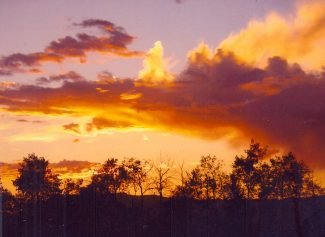 Reader Gloria Montgomery captured this sunset during a hike in Granby Ranch.