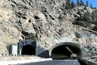I-70 drivers can expect 15-minute to 45-minute delays at the Twin Tunnels while the Colorado Department of Transportation completes blasting work to widen the tunnel. The project is expected to take about five months total.