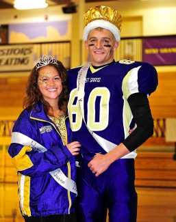 Sarah Vance, left, and Reno Davidson were selected as West Grand's homecoming queen and king on Friday evening, Oct. 4.