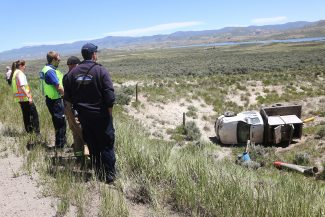 No serious injuries were reported as a result of this rollover accident just west of Kremmling on Wednesday, June 15.