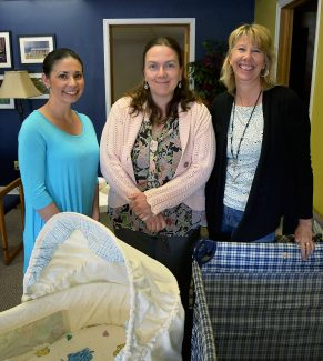 Breastfeeding meetings offer an informal chance for mother-to-mother and woman-to-woman support. From left, Marilyn Banks, maternal and child health nurse of Grand County Public Health Nursing Service, Rosalie Rust, of the Grand County breastfeeding network, and June Matson of the Pregnancy Resource Connection in Granby.