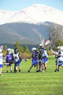 The Fraser Valley Lacrosse U9 team scrimmages against Summit County on Wednesday, May 25 at the Fraser Sports Complex.