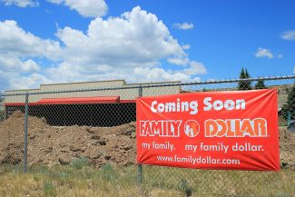 A dollar store under construction in Kremmling has area residents looking forward to the new commerce, but some are unsure of the future building's aesthetics. Kaitlyn Adams, Sky-Hi News intern.