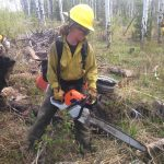 Katrina Mohr from the USFS assisting on the Copper Creek Fire on Wednesday, June 1.