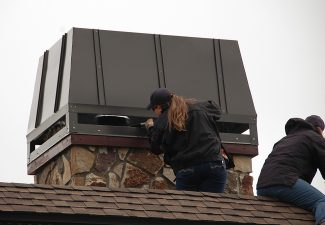 """""""Thanks to Michelle and Rachel from Colorado Parks and Wildlife for the great job they did in the rain rescuing a fledgling Osprey (a female we named Thelma) who got trapped in the chimney cover of our house,"""" said resident Ken Fucik. """"She flew away with much energy in spite of her overnight experience."""""""