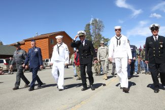 Grand County veterans march in the Memorial Day parade in Grand Lake on Monday, May 30.