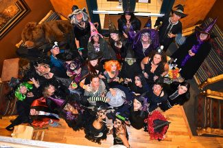 "A coven of more than 20 witches was spotted around the caldron on Friday evening, Oct. 25, at the Gateway Inn, Grand Lake. Several accessorized with brooms, and one witch brought a SweeperVac, calling it her ""power broom."""