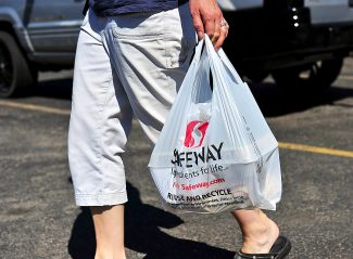Fraser voters will decide in November whether to place a tax on single-use plastic bags at local retailers, such as Safeway.