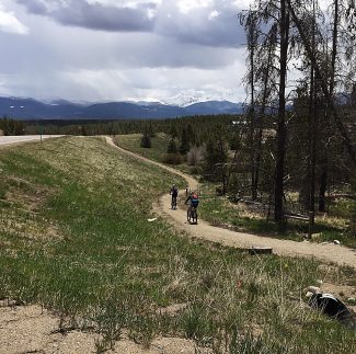 Over the Memorial Day weekend there were a lot of road and trail cyclists in Grand County. With the sometimes stormy, sometimes glorious weather, there were people out enjoying spring time in the Rocky Mountains.