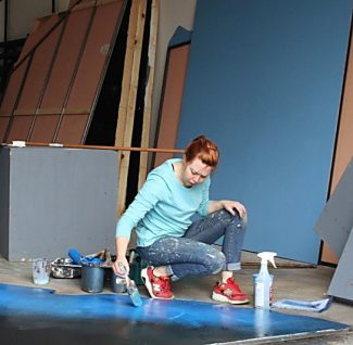 Behind the scenes work has begun at Rocky Mountain Repertory Theatre this week.  The entire company, including set and costume design, sound and light technicians, musicians and actors should be arriving this weekend.  RMRT opens with Disney's The Little Mermaid June 17.