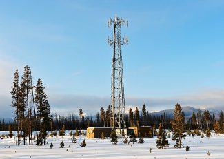 Changes to existing Grand County zoning regulations would make it easier for telecommunication providers to expand coverage.  Currently they are restricted to Forestry Zone Districts, such as this cell tower outside of Fraser along CR 5.