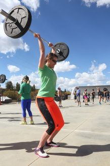 Katie Eastman competes for Stand Firm CrossFit of Granby during the third annual Highway 40 Throwdown in Fraser on Saturday, September 17.  Teams from Fraser, Granby, Steamboat and Craig competed in this event with CrossFit Thin Air of Fraser finishing in first place.