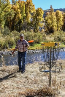 Golfing is good at the Hot Sulphur Springs, Pioneer Park Disc Golf Course, Monday, September 19.