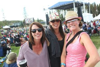 Locals Merideth Lipscomb, Carie Livingston and Kassi Kielley enjoy the Winter Park Music Festival on Saturday, August 27 in Hideaway Park.  The one-day festival included Vince Neil of Mötley Crüe, Great White and The Rick Lewis Project.