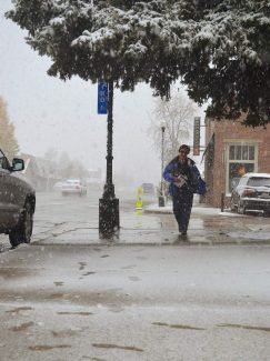 Granby experienced a different kind of October surprise Thursday morning Oct. 5 when a sudden and furious snowstorm blanketed the town. Early Thursday morning Deb Coultas was hurrying down the Agate Ave. sidewalk in Granby, trying to get inside to warm environs.