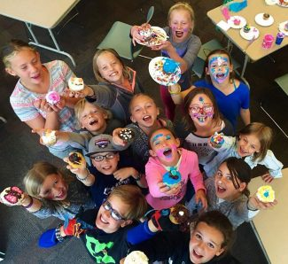 Young designers participated in #hangin' Cupcake Wars at the Fraser Valley Library. Each participant created cupcakes based on their favorite book or character in a book. Prizes were awarded based on Most Representative of Book, Best use of Materials, and Overall Most Creative.