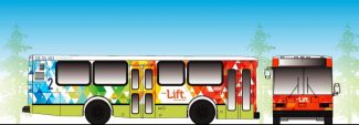 The design for The Lift busses.