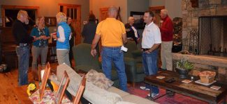 Rich Cimino (second from right) held an election celebration at his home in Fraser on November 9.