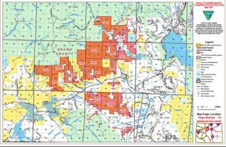Grand County parcels that may be part of the Oil & Gas Lease Sale in May 2017.