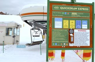 The Quickdraw Express chairlift stood motionless at Ski Granby Ranch Saturday Jan. 7. State officials have yet to release a report on the accidental death of Kelly Huber, who fell from the Quickdraw on Dec. 29, 2016.