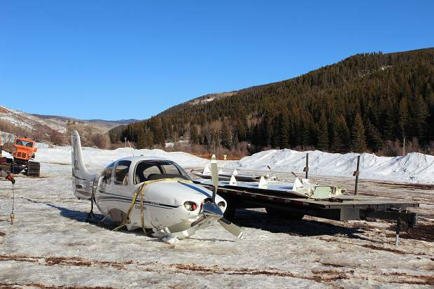 The White River National Forest carefully planned the extraction of a small aircraft that was forced to the ground in the Flat Tops.